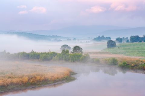 River Spey in mist