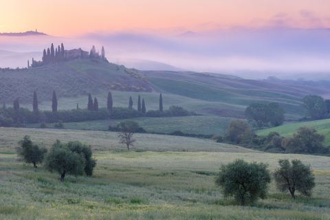 Belvedere in the mist